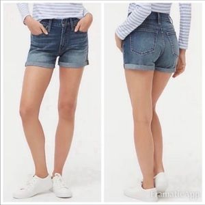 J. Crew Factory Super High Rise Denim Jean Shorts